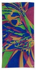 Color Cat I Beach Sheet by Pamela Clements