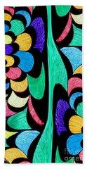Beach Sheet featuring the digital art Color Dance by Rafael Salazar