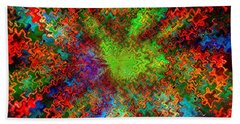Color Explosion Abtract Beach Towel