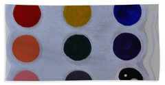 Color From The Series The Elements And Principles Of Art Beach Towel by Verana Stark