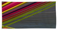 Beach Towel featuring the photograph Color Strips by Stuart Litoff