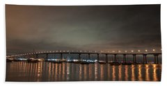 Coronado Bridge San Diego Beach Towel by Gandz Photography