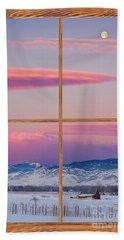 Colorado Moon Sunrise Barn Wood Picture Window View Beach Towel