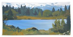Colorado Mountains Beach Towel