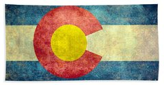 Colorado State Flag Beach Towel