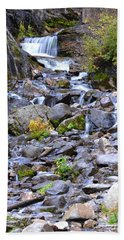 Colorado Waterfall Mountain Stream Beach Towel by Andrea Hazel Ihlefeld