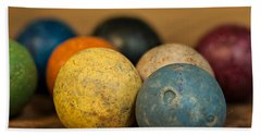 Colored Clay Marbles Beach Sheet