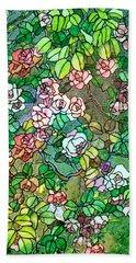 Colored Rose Garden Beach Towel