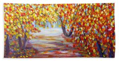 Colorful Autumn Beach Towel