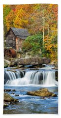 Colorful Autumn Grist Mill Beach Towel