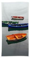 colorful boats on Santurtzi Beach Sheet