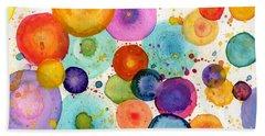 Colorful Bubbles Beach Towel