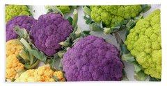Beach Towel featuring the photograph Colorful Cauliflower by Caryl J Bohn