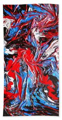 Colorful Chaos Beach Towel
