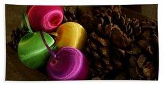 Colorful Christmas Balls Beach Towel