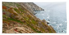 Beach Towel featuring the photograph Colorful Cliffs At Point Reyes by Jeff Goulden