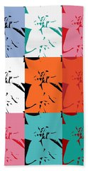 Colorful Flowers  Lily Beach Towel