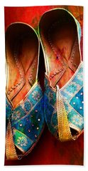 Colorful Footwear Juttis Sales Jaipur Rajasthan India Beach Sheet