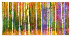 Colorful Forest Abstract Beach Towel