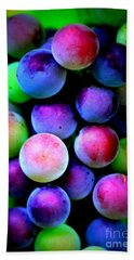 Colorful Grapes - Digital Art Beach Sheet by Carol Groenen