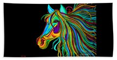 Colorful Horse Head 2 Beach Sheet