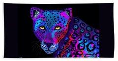Colorful Jaguar Beach Towel