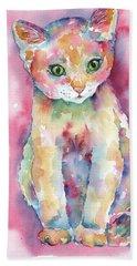 Colorful Kitten Beach Towel
