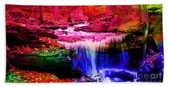 Colorful Landscape And Water Flow Beach Towel by Marvin Blaine