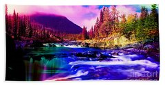 Colorful Landscape Beach Towel by Marvin Blaine