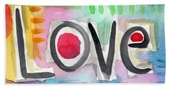 Colorful Love- Painting Beach Sheet