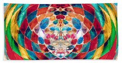 Colorful Mosaic Beach Towel