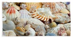 Beach Towel featuring the photograph Colorful Ocean Seashells 2 by Andee Design