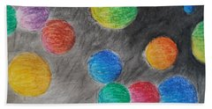 Colorful Orbs Beach Sheet by Thomasina Durkay