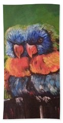 Colorful Parrots Beach Sheet