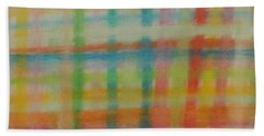 Colorful Plaid Beach Sheet by Thomasina Durkay