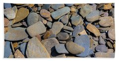 Colorful River Rocks Beach Towel