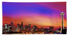Colorful Seattle Beach Towel