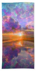 Colorful Sunset By Jan Marvin Beach Sheet