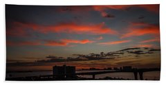 Beach Towel featuring the photograph Colorful Sunset by Jane Luxton