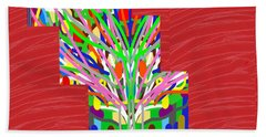 Beach Towel featuring the photograph Colorful Tree Of Life Abstract Red Sparkle Base by Navin Joshi