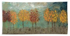 Colorful Trees Beach Towel by Linda Bailey