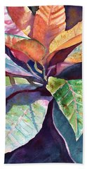 Colorful Tropical Leaves 3 Beach Sheet