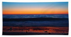 Colorful Twilight Beach Towel