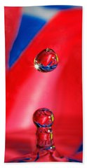 Beach Towel featuring the photograph Colorful Water Drop by Peter Lakomy