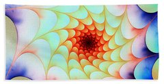 Beach Towel featuring the digital art Colorful Web by Anastasiya Malakhova