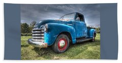 Colorful Workhorse - 1953 Chevy Truck Beach Towel
