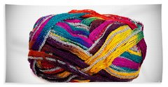 Colorful Yarn Beach Towel