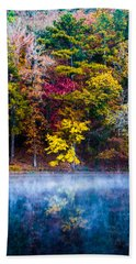 Colors In Early Morning Fog Beach Towel