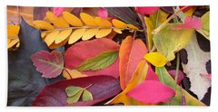 Colors Of Autumn Beach Sheet