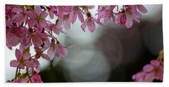Beach Sheet featuring the photograph Colors Of Spring - Cherry Blossoms by Jordan Blackstone